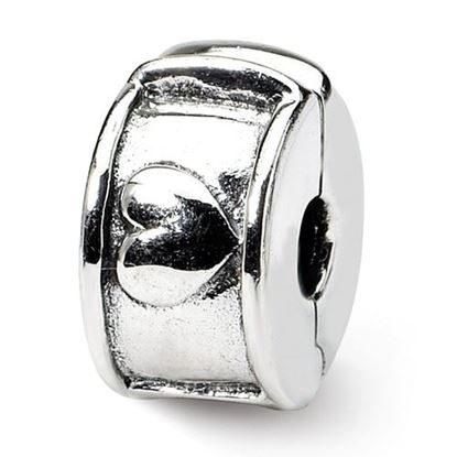 Picture of Sterling Silver Hinged Heart Clip Bead