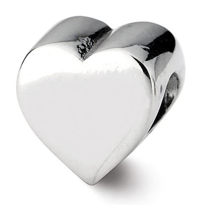 Picture of Sterling Silver Heart Shape Bead