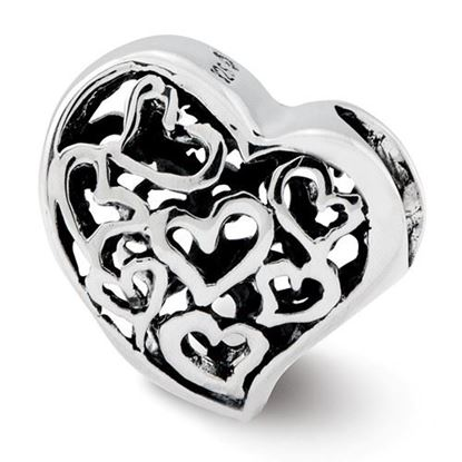 Picture of Sterling Silver Cutout Hearts Bead