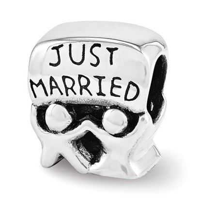 Picture of Sterling Silver Just Married Bead