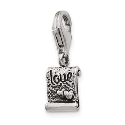Picture of Sterling Silver Love Note Click-on for Bead
