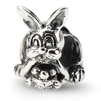 Picture of Sterling Silver Bunny with Basket Bead