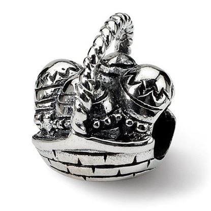 Picture of Sterling silver Easter Basket Bead