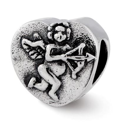 Picture of Sterling Silver Cupid Heart Bead