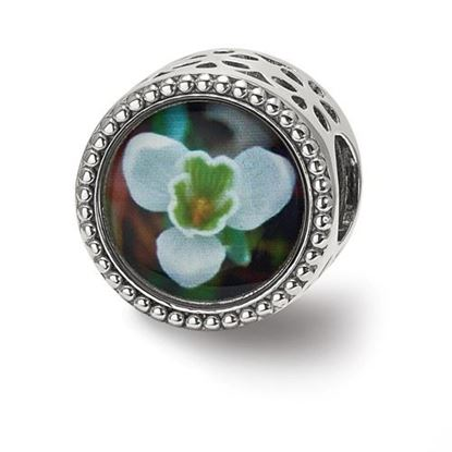 Picture of Sterling Silver January Flower Bead