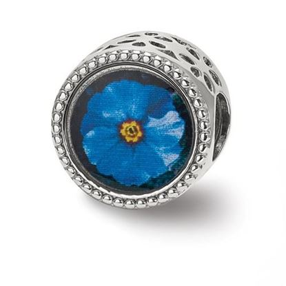 Picture of Sterling Silver February Flower Bead
