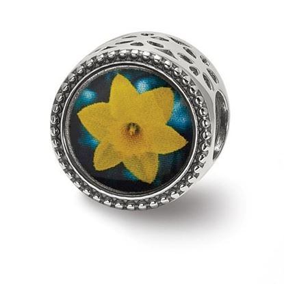 Picture of Sterling Silver March Flower Bead
