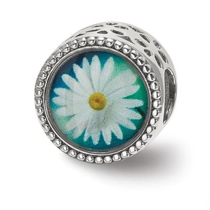 Picture of Sterling Silver April Flower Bead