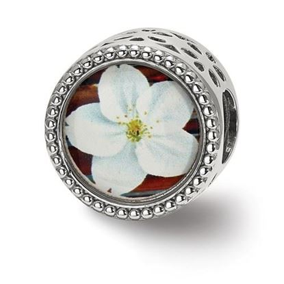 Picture of Sterling Silver May Flower Bead
