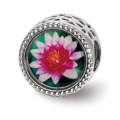 Picture of Sterling Silver July Flower Bead