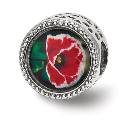 Picture of Sterling Silver August Flower Bead