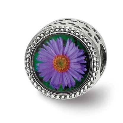 Picture of Sterling Silver September Flower Bead