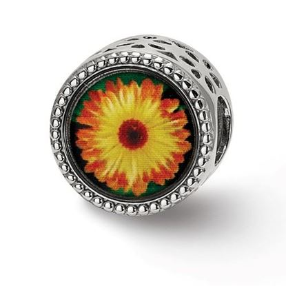 Picture of Sterling Silver October Flower Bead