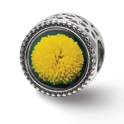 Picture of Sterling Silver November Flower Bead