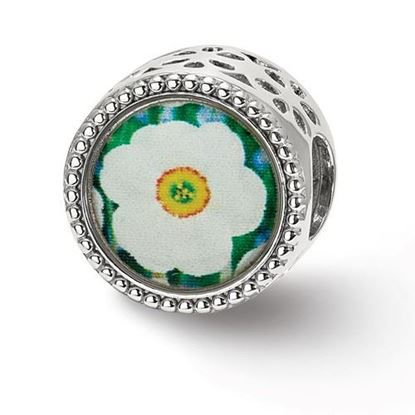 Picture of Sterling Silver December Flower Bead