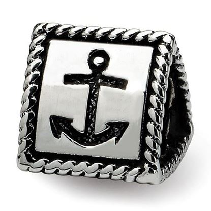 Picture of Sterling Silver Anchor Cross Heart Trilogy Bead