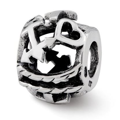 Picture of Sterling Silver Cross, Heart, Anchor Bali Bead