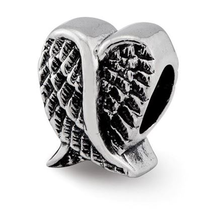 Picture of Sterling Silver Heart Shaped Wings Bead