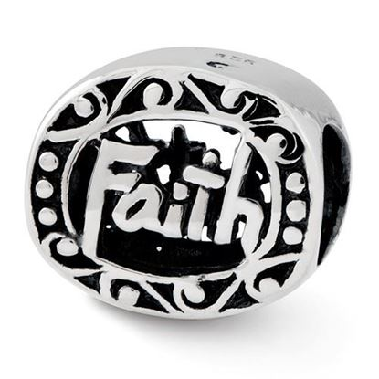Picture of Sterling Silver Faith Bead