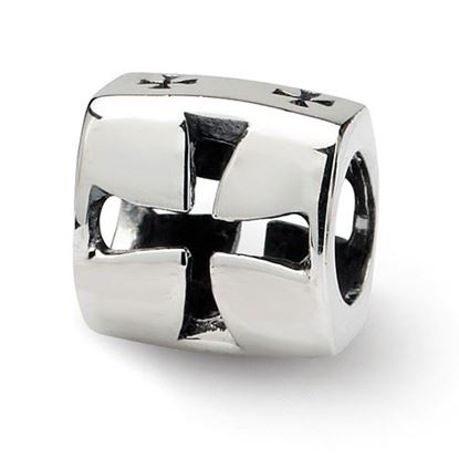 Picture of Sterling Silver Maltese Cross Bead
