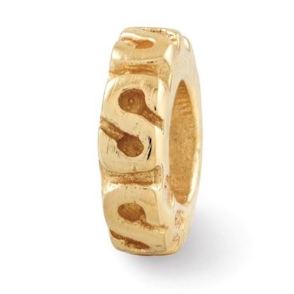Picture of Sterling Silver Gold-plated Swirl Spacer Bead