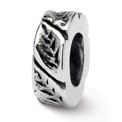 Picture of Sterling Silver Leaf Design Spacer Bead