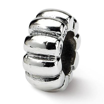 Picture of Sterling Silver Scalloped Spacer Bead