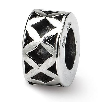 Picture of Sterling Silver X Spacer Bead