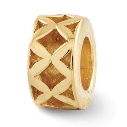Picture of Sterling Silver Gold-plated X Spacer Bead