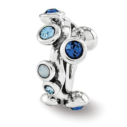 Picture of Sterling Silver Swarovski Crystal Bubble Spacer Bead