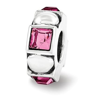 Picture of Sterling Silver Swarovski Crystal Squares Dots Bead