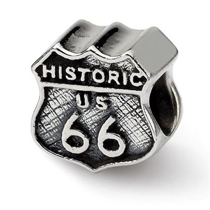 Picture of Sterling Silver Route 66 Bead
