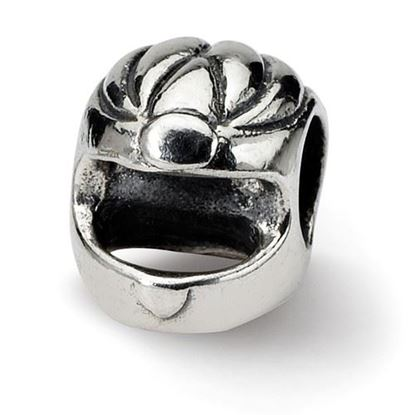 Picture of Sterling Silver Race Car Helmet Bead
