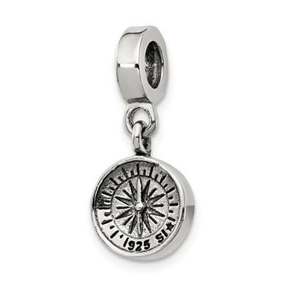 Picture of Sterling Silver Compass Dangle Bead