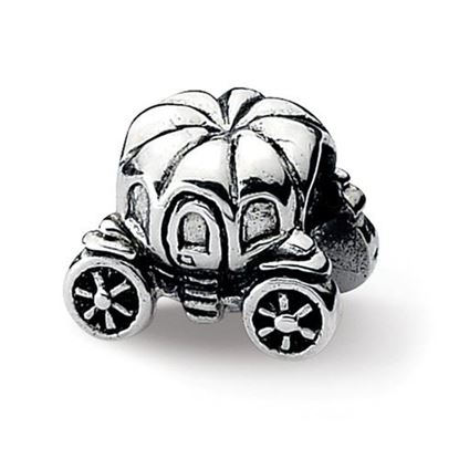 Picture of Sterling Silver Pumpkin Carriage Bead