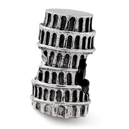 Picture of Sterling Silver Leaning Tower of Pisa Bead