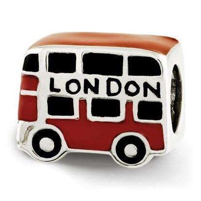 Picture of Sterling Silver Enamel London Double Decker Bus Bead