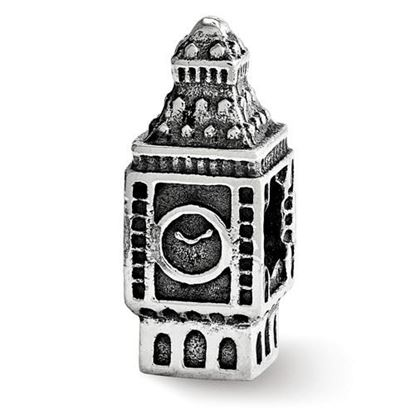 Picture of Sterling Silver Big Ben Clock Bead