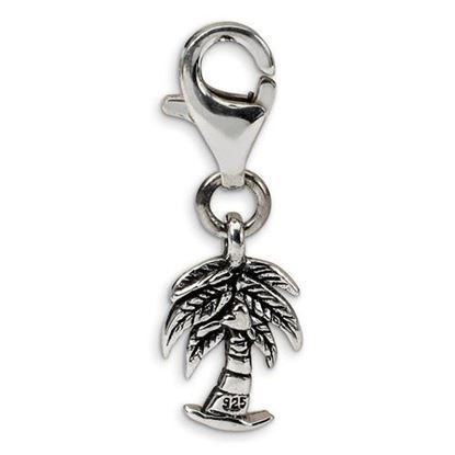 Picture of Sterling Silver Palm Tree Click-on for Bead