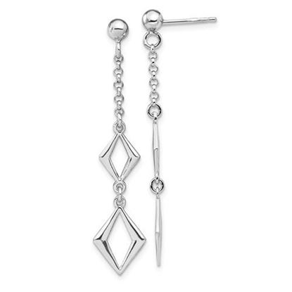 Picture of Leslie's Sterling Silver Rhodium-plated Polished Earrings