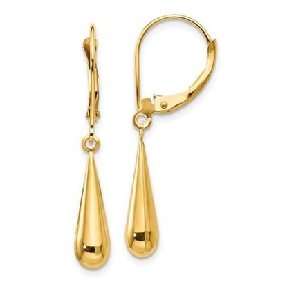 Picture of 14k Madi K Teardrop Dangle Leverback Earrings