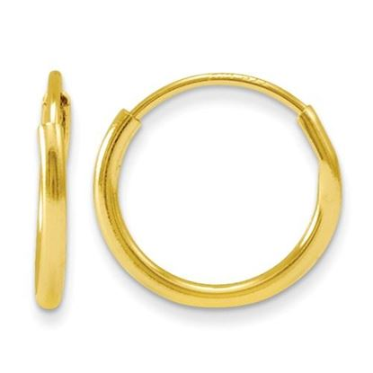 Picture of 14k Madi K 9mm Diameter Endless Hoop Earrings
