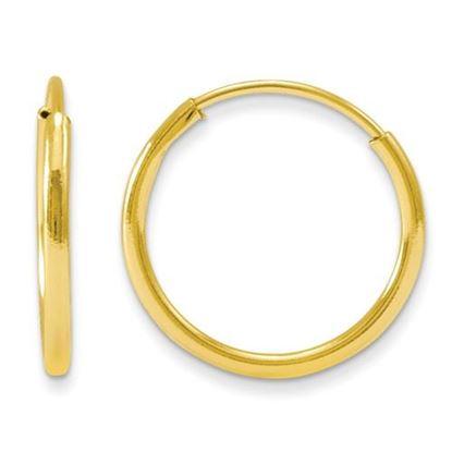 Picture of 14k Madi K12mm Diameter Endless Hoop Earrings