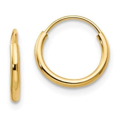 Picture of 14k Madi K 8mm Diameter Endless Hoop Earrings