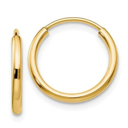 Picture of 14k 1.5mm Polished Round Endless Hoop Earrings