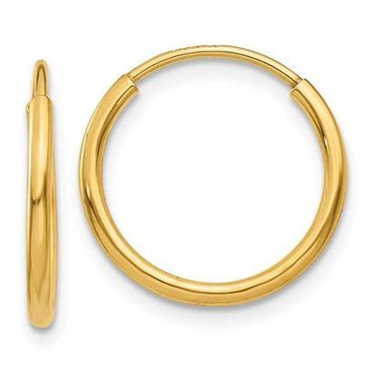 Picture of 14k Endless Hoop 14mm Diameter Earrings