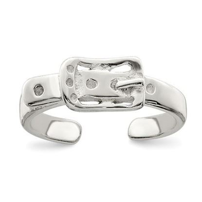 Picture of Sterling Silver Antiqued Buckle Toe Ring