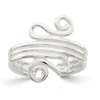 Picture of Sterling Silver Polished Scroll Toe Ring