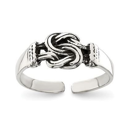 Picture of Sterling Silver Antiqued Love Knot Toe Ring