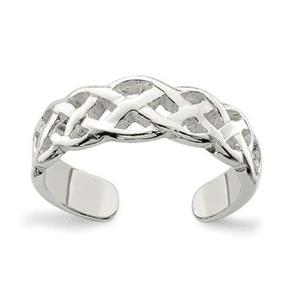 Picture of Sterling Silver Celtic Weave Toe Ring